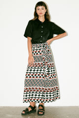 Marrakesh Wrap Skirt - Tile Print