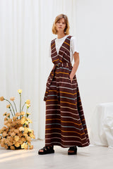 SCULPTURE DRESS - Landscape Stripe
