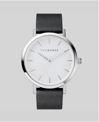 The Horse Watch Original - Polished Steel / Black Leather
