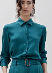 Wayside Shirt- Teal Green PRE -ORDER- Delivery mid May