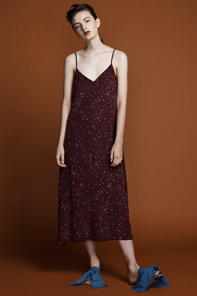 Slip Dress -Supernova Print