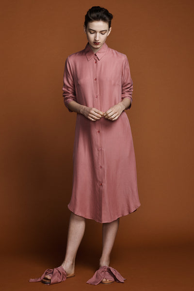 Ranger Shirt Dress -Antique Rose