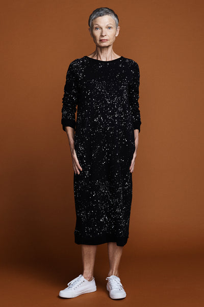 Whistler Sweater Dress -Galaxy Print
