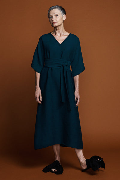 Kyoto Dress -Petrol Green