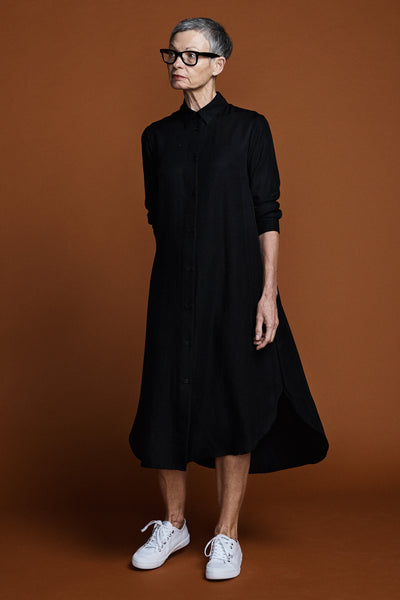 Ranger Shirt Dress -Black