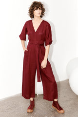 Willow Jumpsuit - Merlot