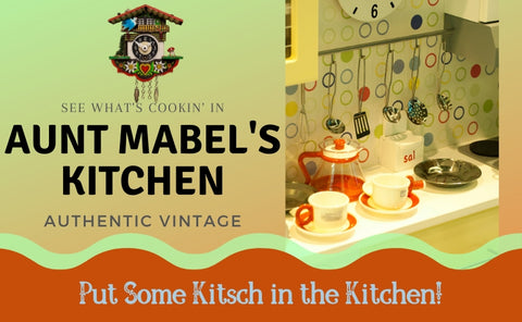 Vintage kitchen decor, small appliances, gadgets and more.