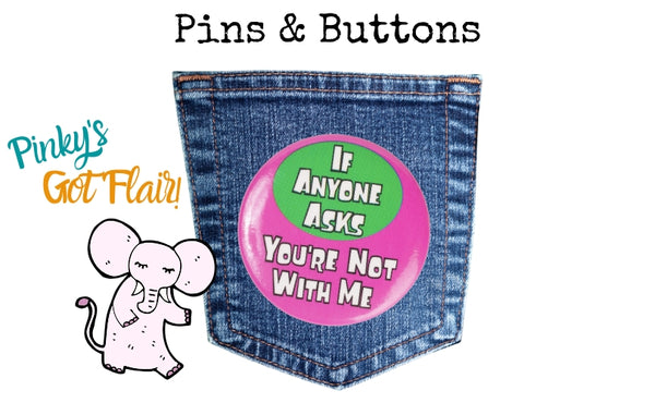 Shop for fun and unique vintage pins and buttons at Pink Elephant Relics.