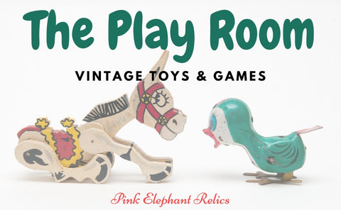 Vintage toys, games and decor for childhood.
