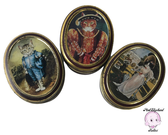 Quirky Vintage Kitty Tins! 3 Bentley's