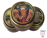 "Quirky Vintage Kitty Tins! 3 Bentley's ""The Cats Gallery"" Candy Tins titled Blue Boy, Henry VIII, & Princess ZN Yusupova as Classic Art Cats"