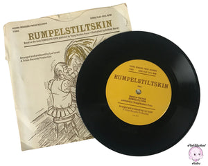 "1970's Rumpelstiltskin Story Book on 33 1/3 Rpm 7"" Record Young Reader Press Records 73881 & Paper Sleeve - Vintage Kids Storybook Records"