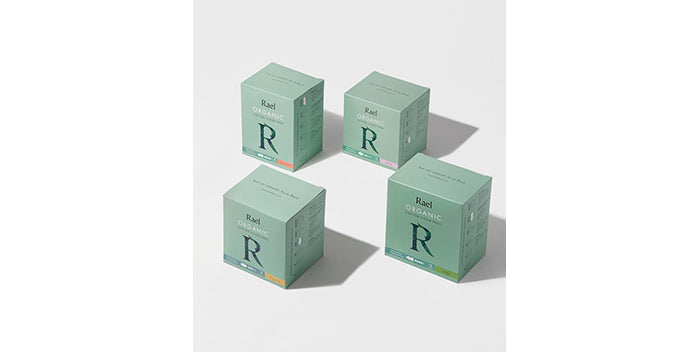 rael organic liners and pads