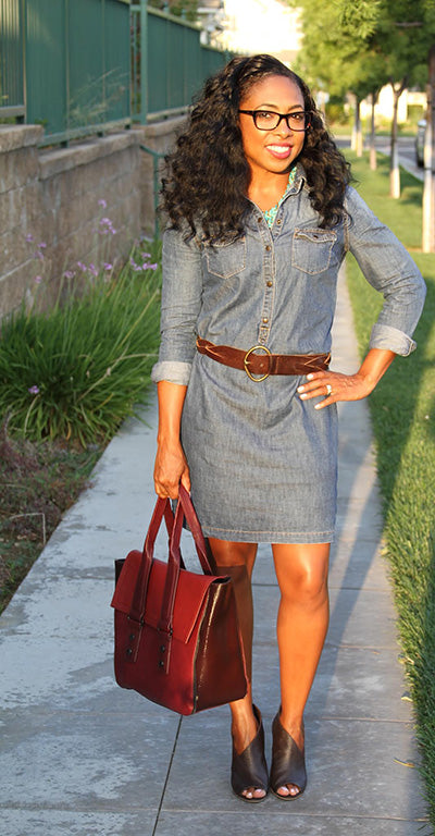 Dress, Old Navy / Shoes, Nordstrom / Bag, French Connection