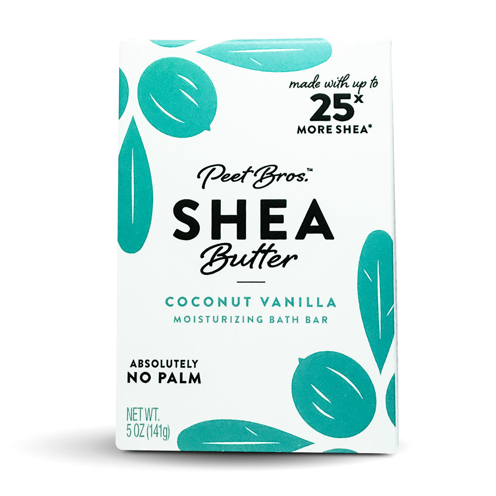 PEET BROS. Shea Butter Bar Soap Coconut Vanilla