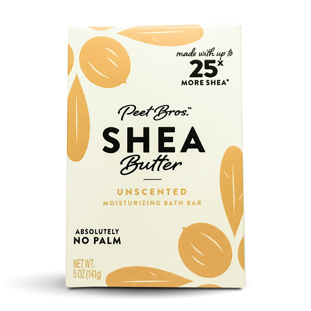 PEET BROS Shea Butter Bar Soap Unscented