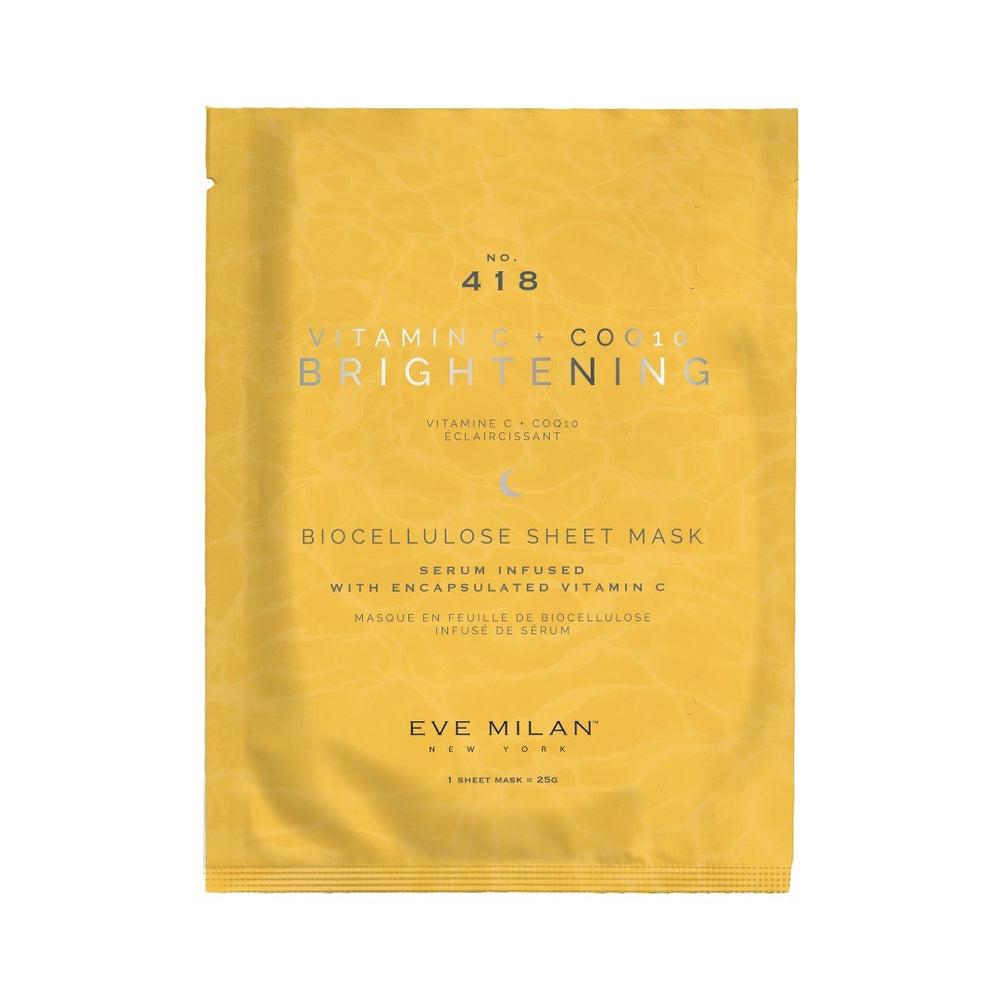 EVE MILAN NY Brightening Vitamin C + Coq10 Biocellulose Sheet Mask