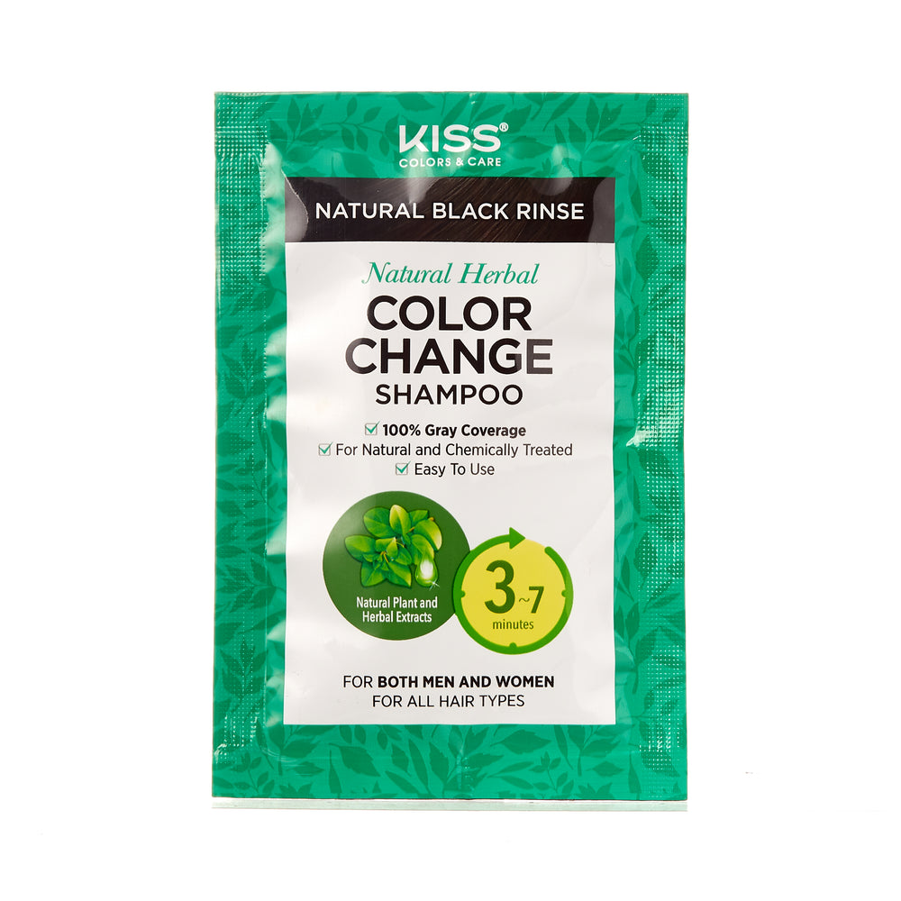 KISS COLORS Quick Cover Natural Herbal Color Change Shampoo