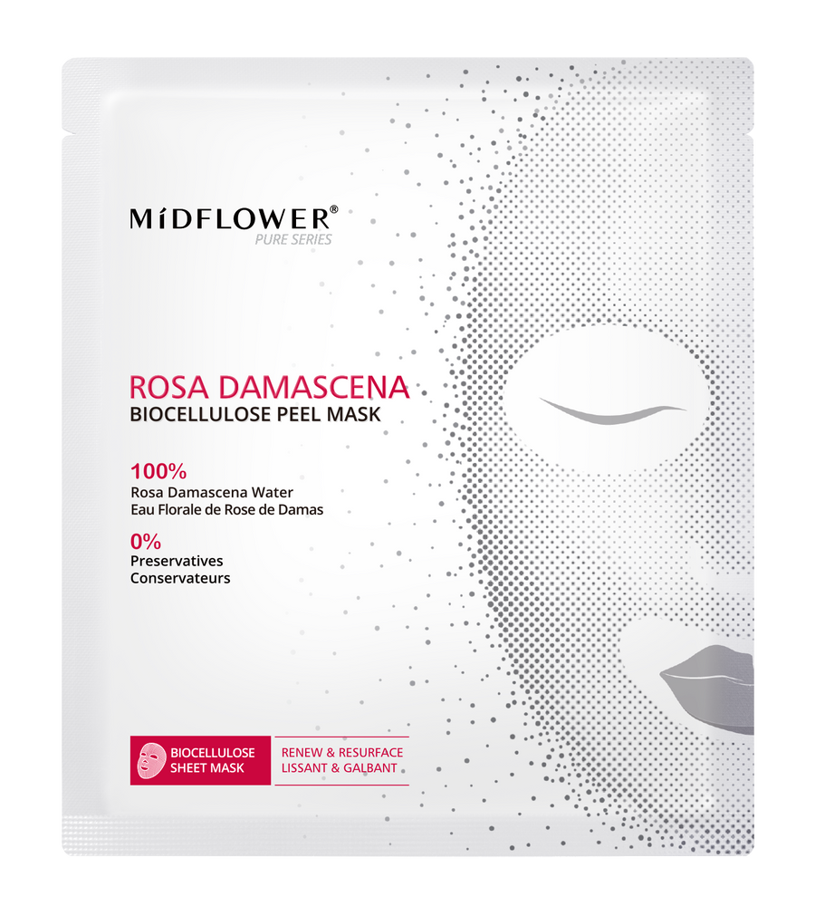 MIDFLOWER Rosa Damascena Biocellulose Peel Mask
