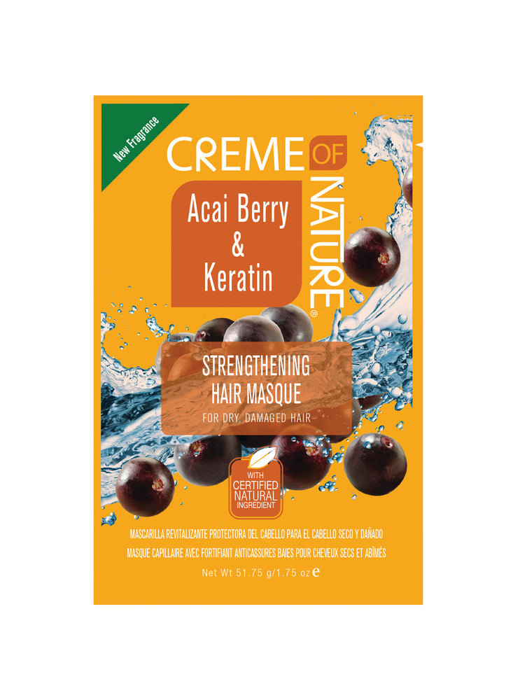 CREME OF NATURE Acai Berry & Keratin Strengthening Hair Masque