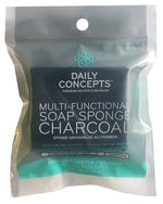 DAILY CONCEPTS Multi- Functional Soap Sponge Charcoal