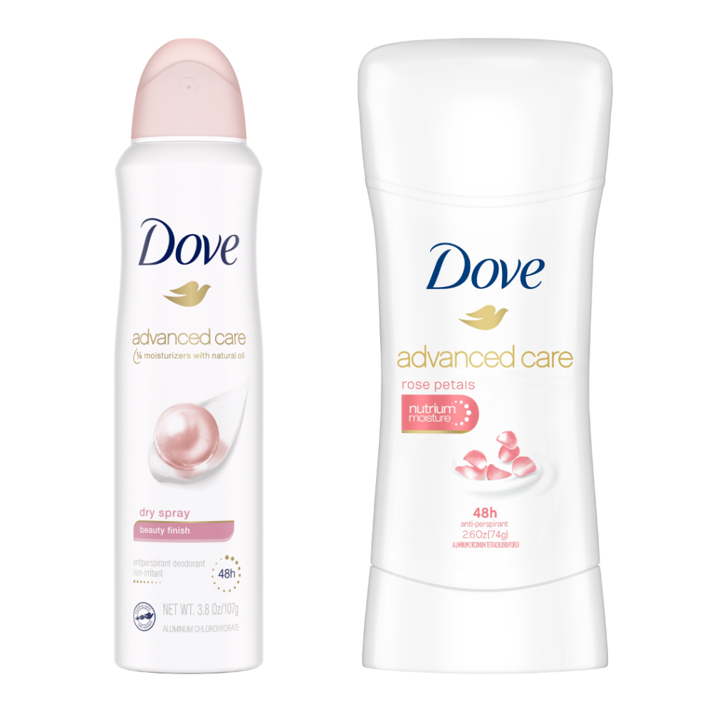 DOVE New Advanced Care Antiperspirant - Dry Spray & Stick (Assorted)
