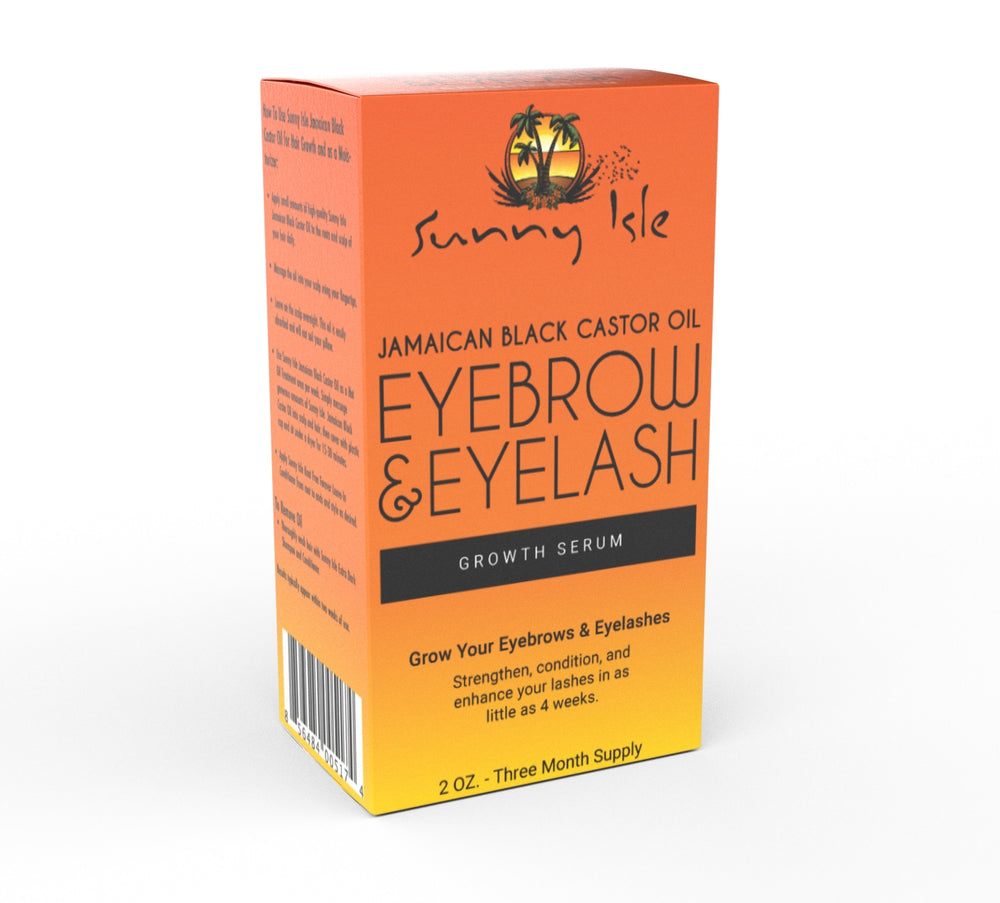 SUNNY ISLE Jamaican Black Castor Oil Eyelash & Eyebrow Growth Serum