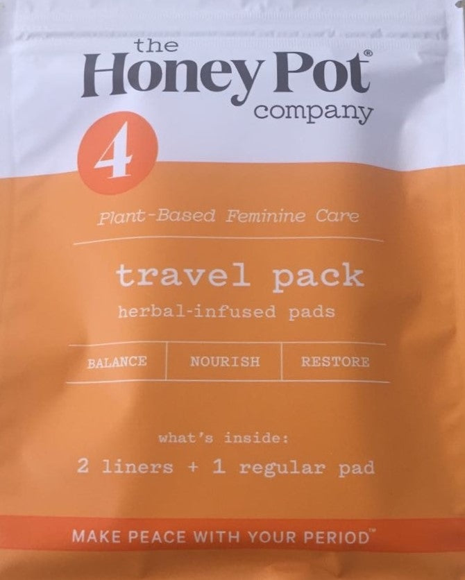 THE HONEY POT COMPANY Travel Pack - Herbal Infused Pads (2 Liners + 1 Regular Pad)
