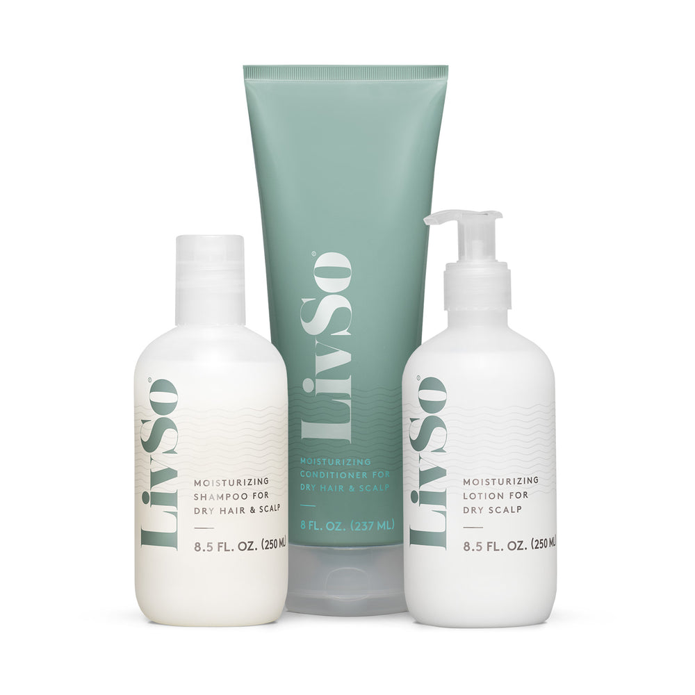 LIVSO Moisturizing Shampoo, Conditioner and Scalp Lotion