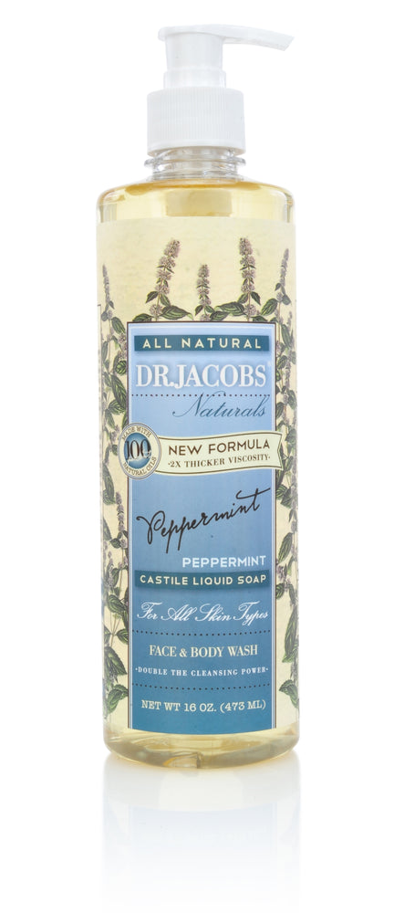 DR. JACOBS NATURALS Peppermint Pure – Castile Liquid Soap