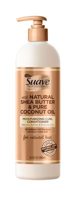 SUAVE PROFESSONALS FOR NATURAL HAIR Natural Shea Butter & Pure Coconut Oil Moisturizing Curl Conditioner