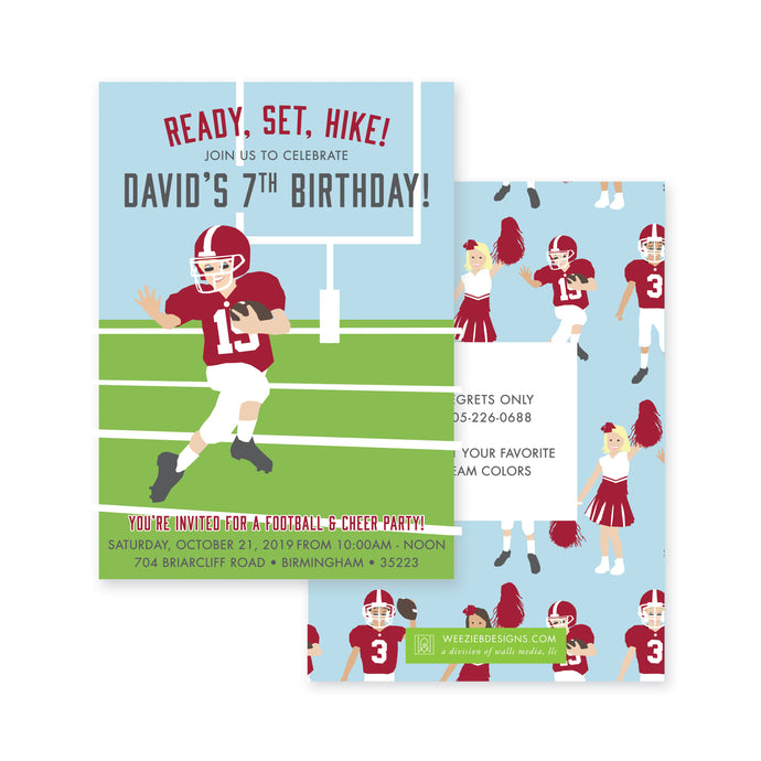 Twin Birthday- Combo Football Puppy Party