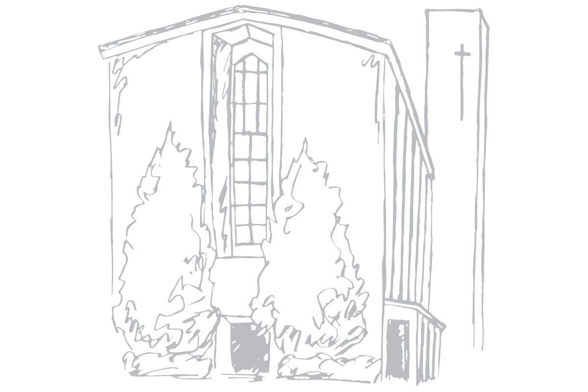 Weezie B. Designs | Sketch of Church for Wedding Suite