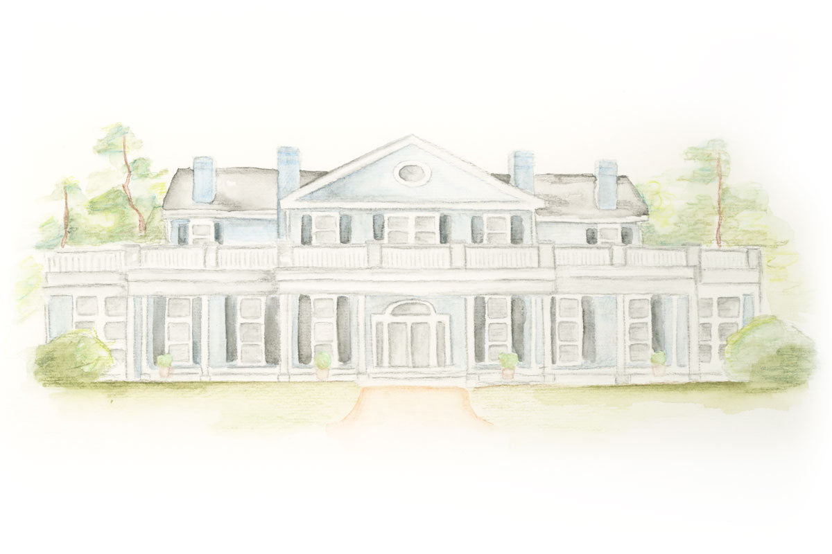 Weezie B. Designs | Watercolor of Steelwood for Wedding Suite