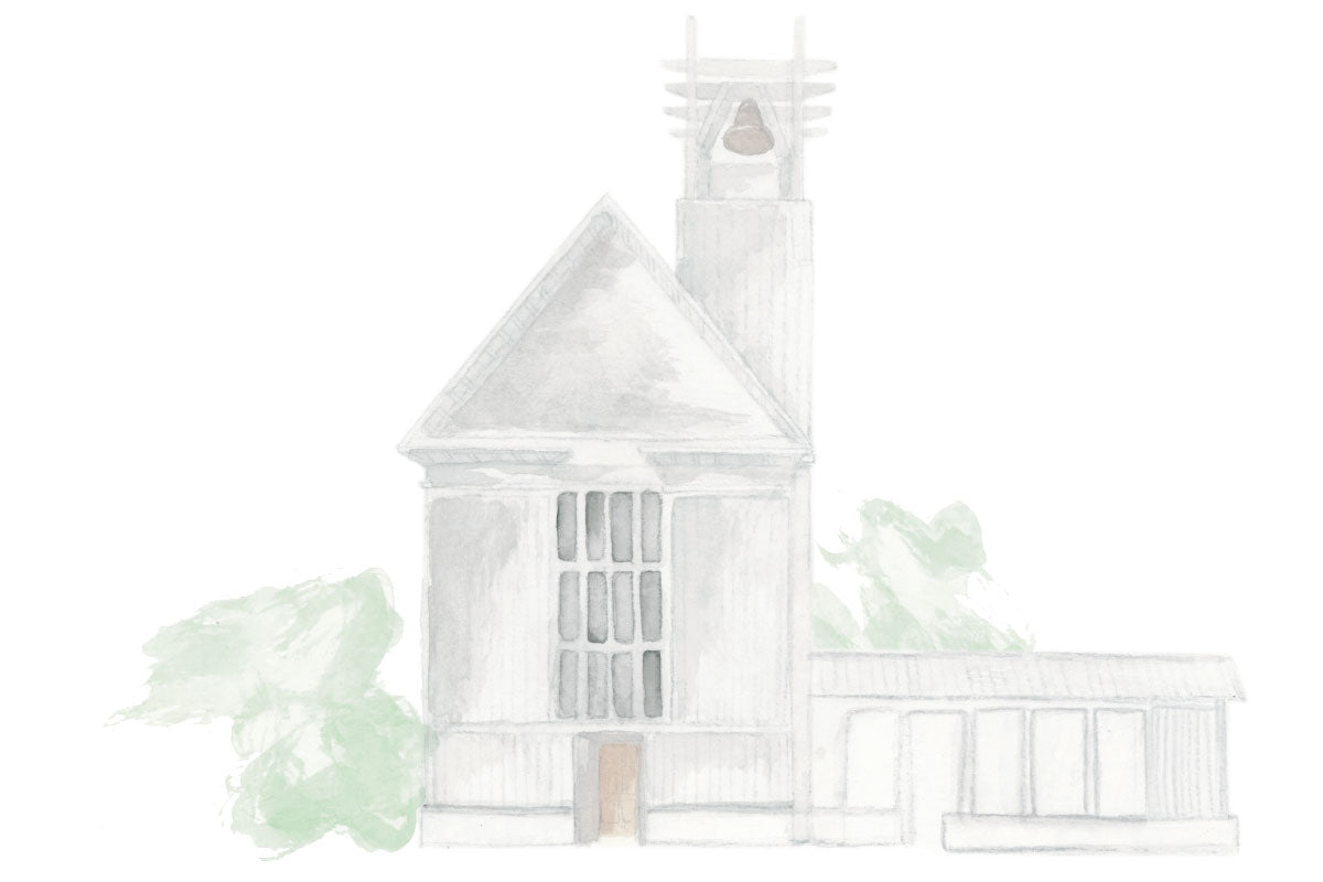 Weezie B. Designs | Watercolor of Church for Wedding Suite