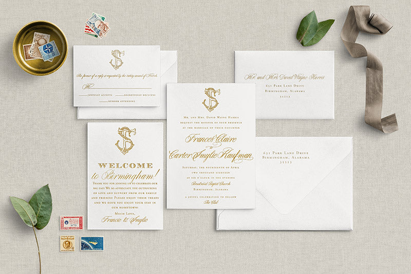 Weezie B. Designs | Custom Wedding Suite | Francie & Smylie
