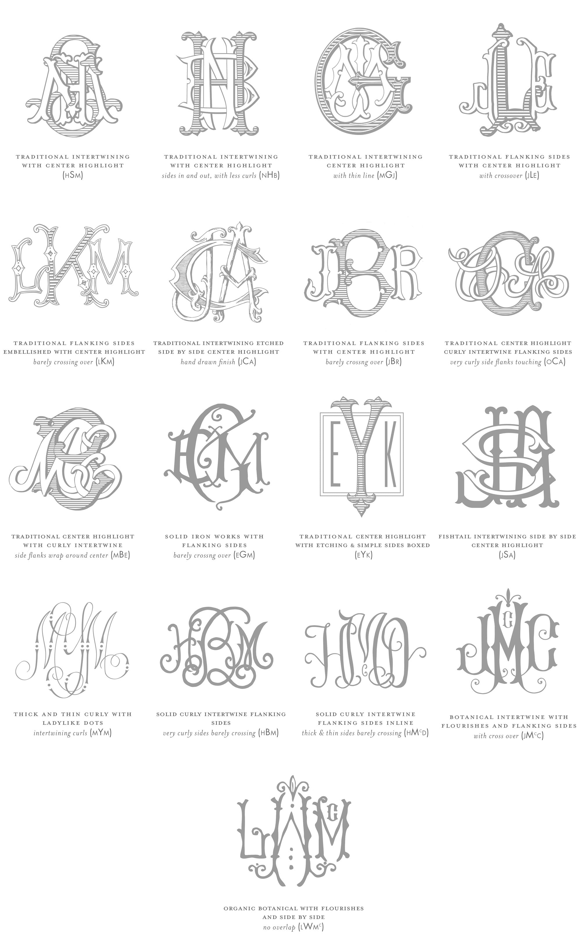 Weezie B. Designs | Custom 3 Letter Monograms