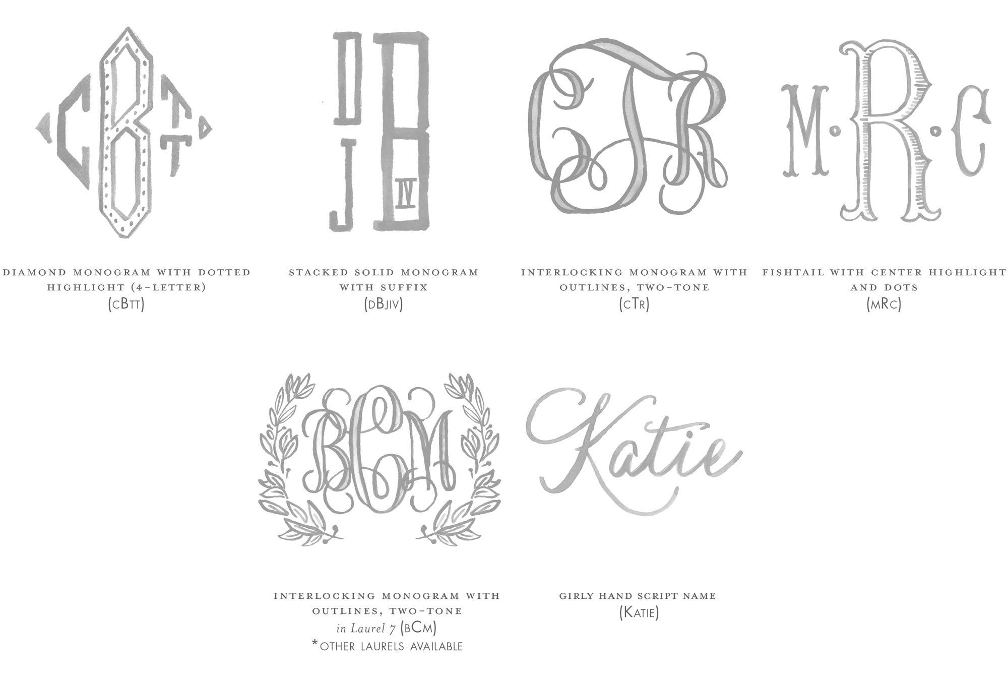 Weezie B. Designs | Watercolor Monograms