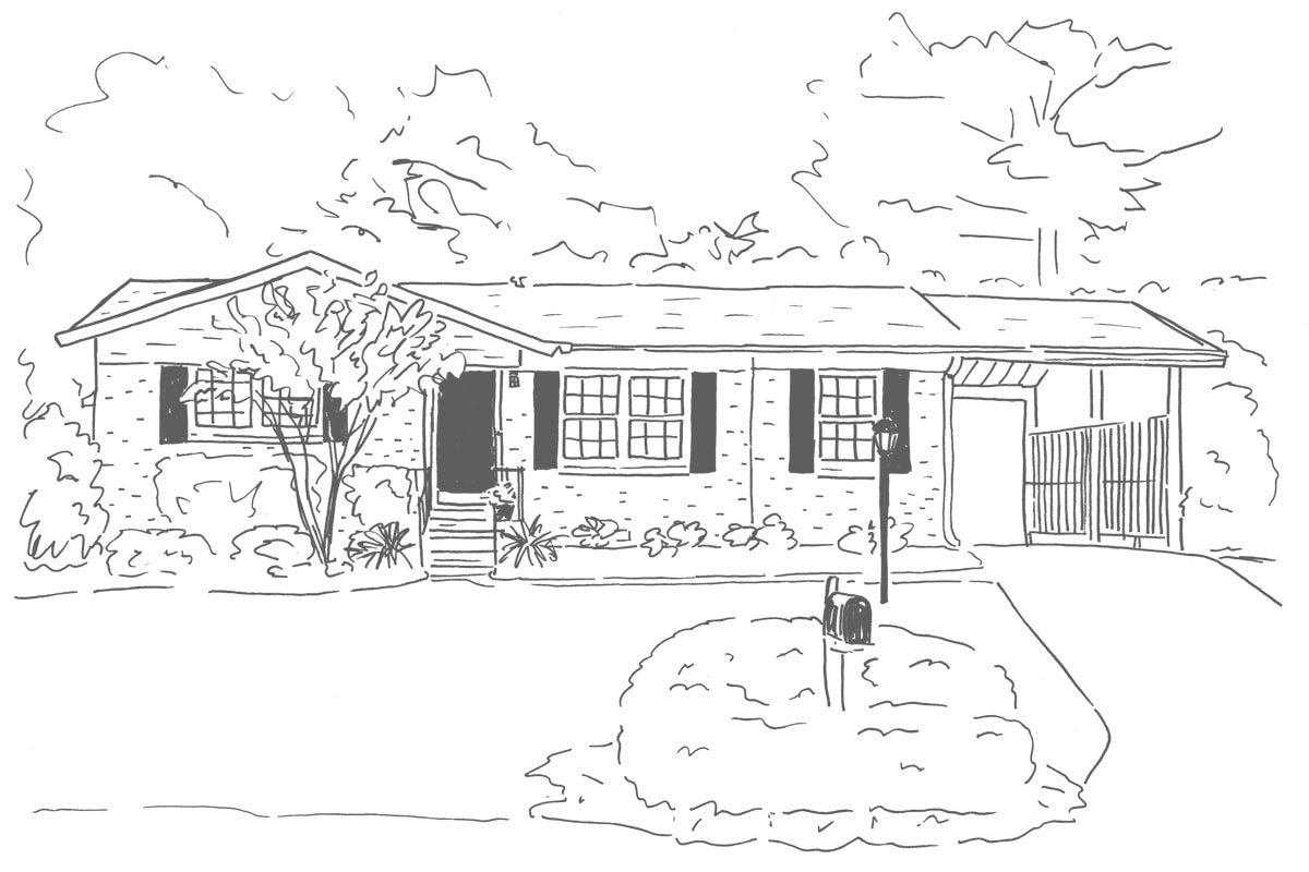 Weezie B. Designs | Sketch of House