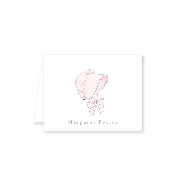 Baby Bonnet Folded Note Card