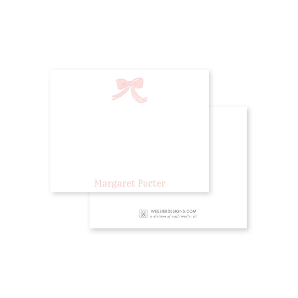 Weezie B. Designs | Watercolor Bow Flat Notecard