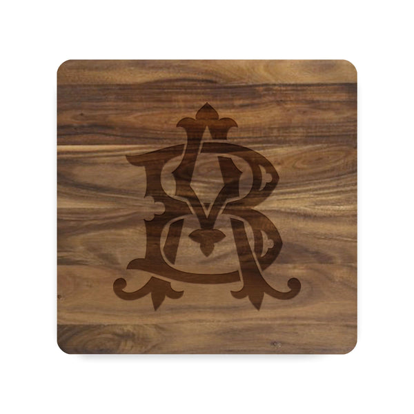 Two-Letter Intertwine Cutting Board