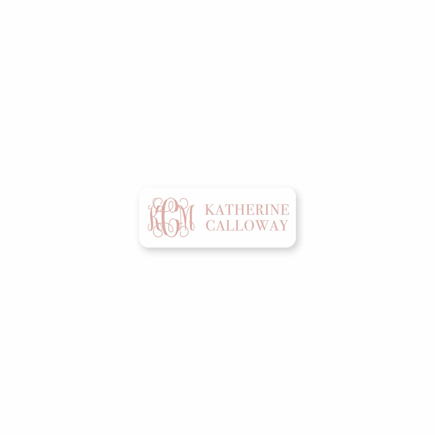 Interlocking Monogram & Name Permanent Stickers