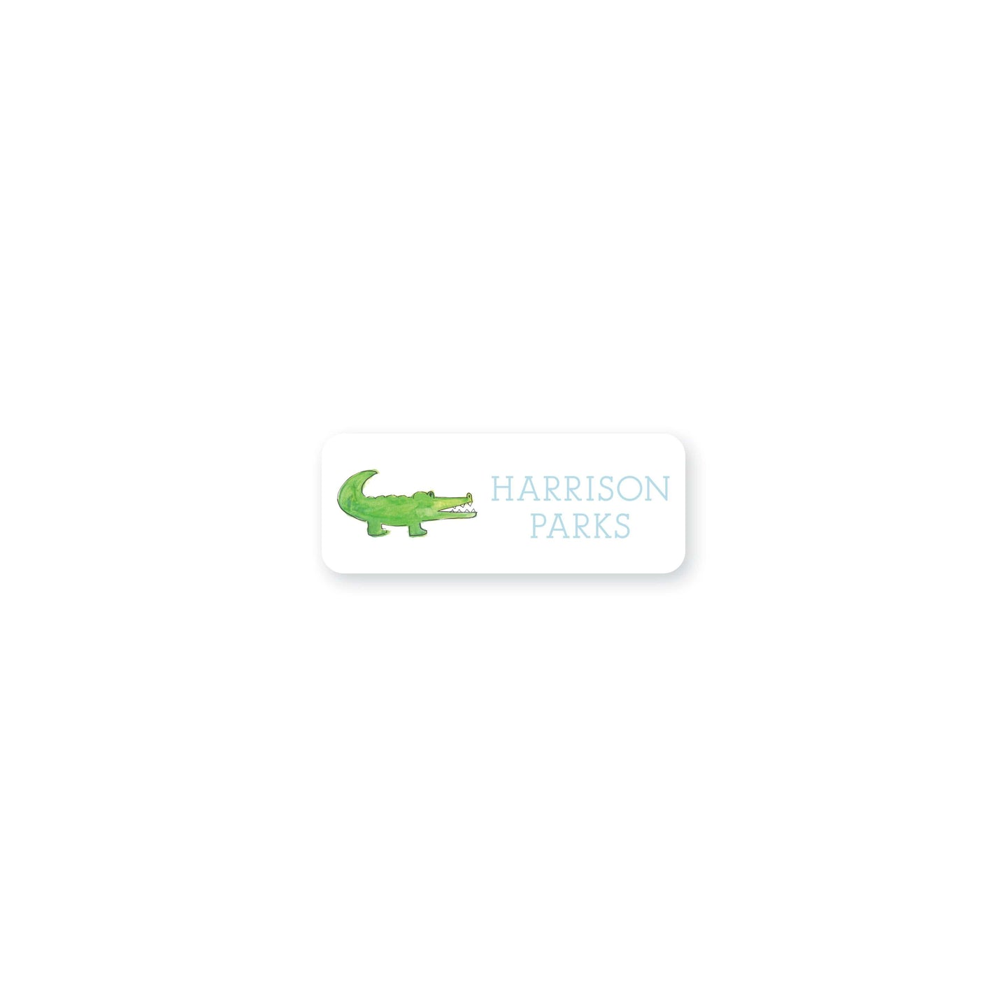 Weezie B. Designs | Watercolor Alligator Permanent Sticker