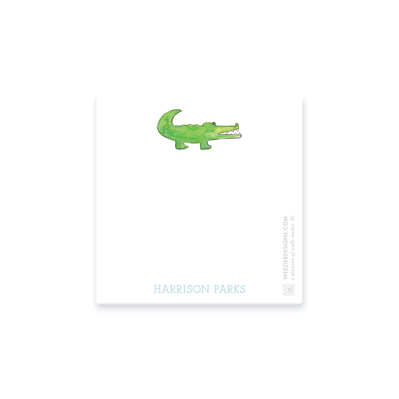 Weezie B. Designs | Watercolor Alligator Personalized Notepad
