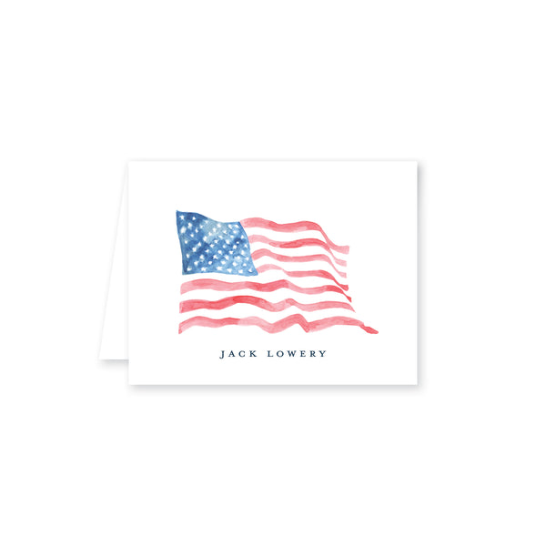 American Wave Folded Note Card