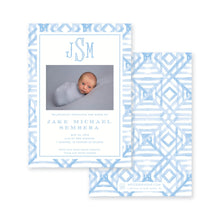 Load image into Gallery viewer, Weezie B. Designs | Watercolor Bamboo Birth Announcement