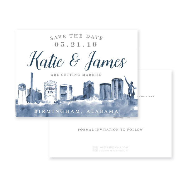 Birmingham Skyline Save-the-Date
