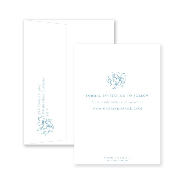 Weezie B. Designs | Blossoming Save-the-Date