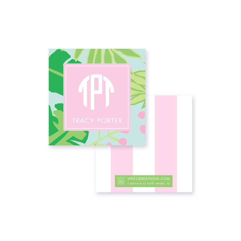 Weezie B. Designs | Bright & Tropical Calling Card